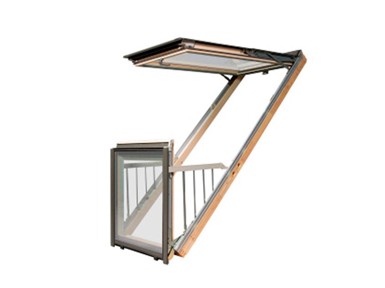 ventana de tejado de balcon fakro