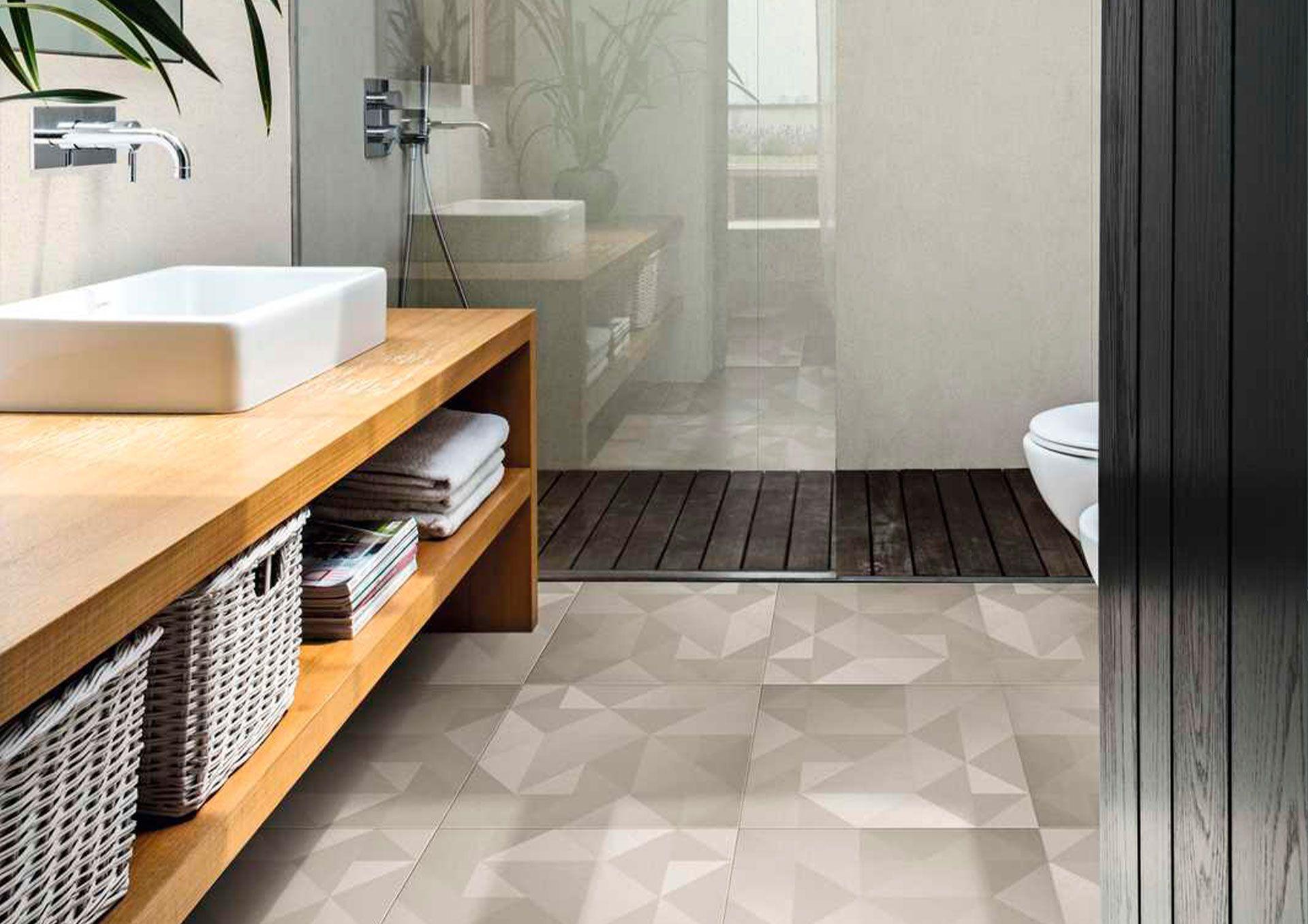 suelos para ban  os con formas geometricas