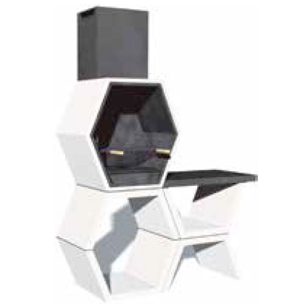 barbacoa modular simple con repisa almacenes lavin